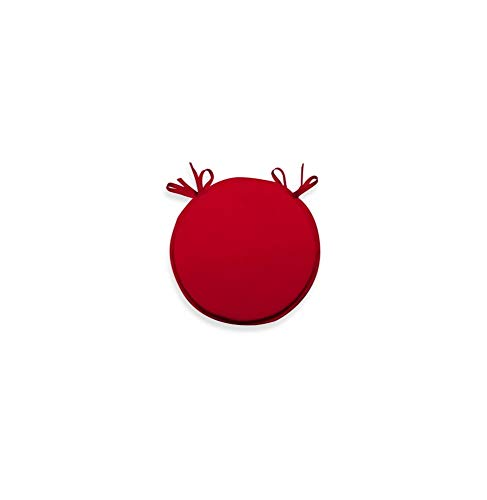 Soleil d'ocre Cojín para Silla bistrot 40 cm Alix Rojo