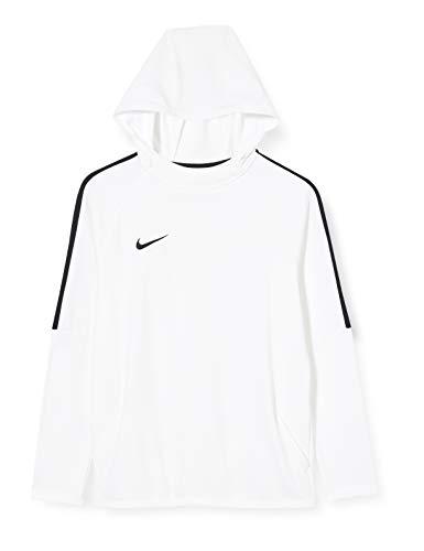 NIKE B NK Dry Acdmy18 Hoodie Po Sweatshirt, Niños, White/ Black/ White/ Black, S