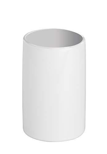 Wenko Gobelet à dents Blanc Bicchiere Portaspazzolini Polaris Ceramica, 7,5 x 11,2 x 7,5 cm, Bianco, 7.5 x 7.5 x 11.5 cm