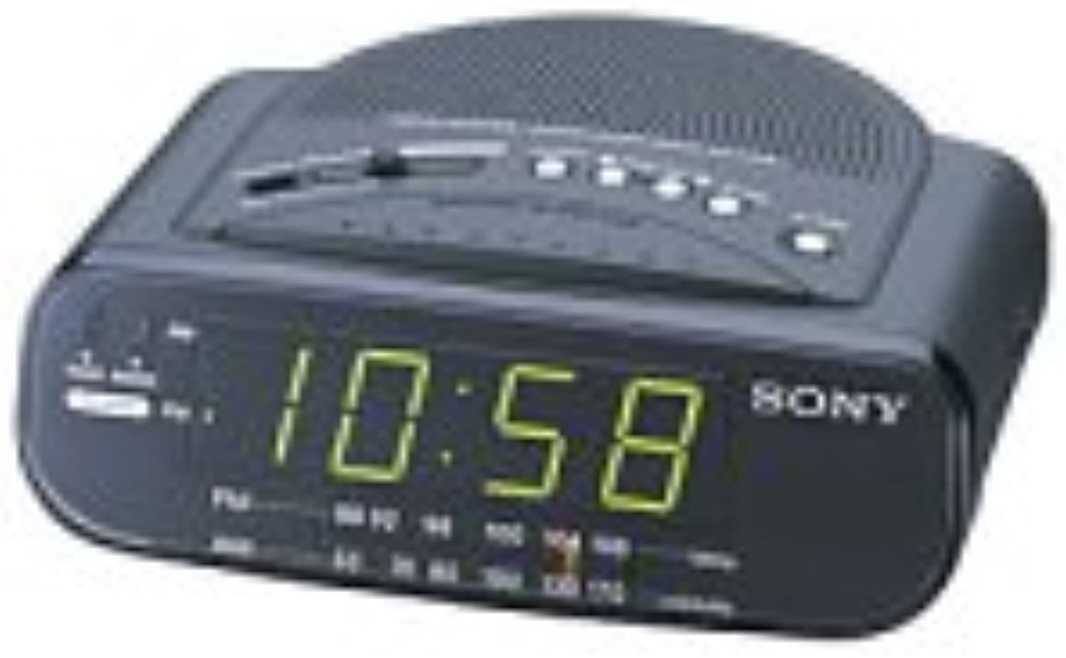 Sony ICF-C212 FM AM Clock Radio with Full Power Back-up (Black) (Discontinued by Manufacturer)