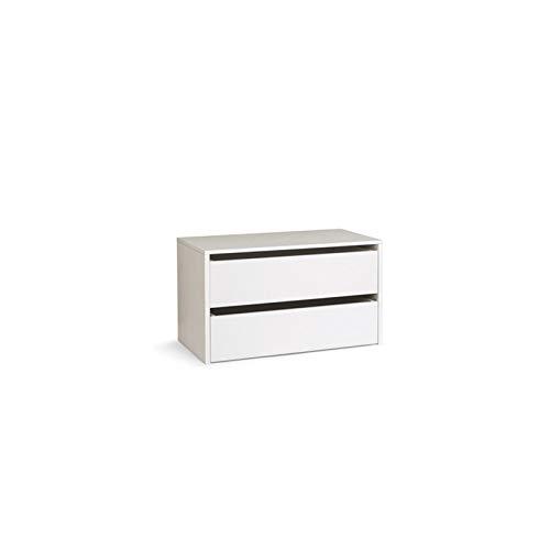 WEBMARKETPOINT Cassettiera in Legno per Interno Amadio Colore Bianco Cm H.50xl.86,5xp.45