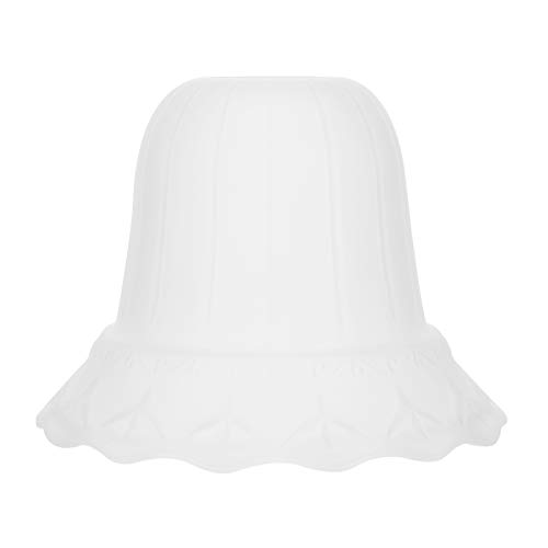 Beaupretty Glass Shades Alabaster Glass Lamp Shade Light Covers Bell Shaped Frosted Glass Lamp Shade Replacement for Ceiling Fan Kit Hanging Lighting Fixtures -  3M47C54311603BQ