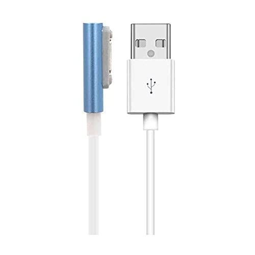 qiaohuan shop Cable de carga magnético USB de 100 cm, compatible con Sony Xperia Z3 L55t Z2 Z1 Compact XL39h Cable cargador