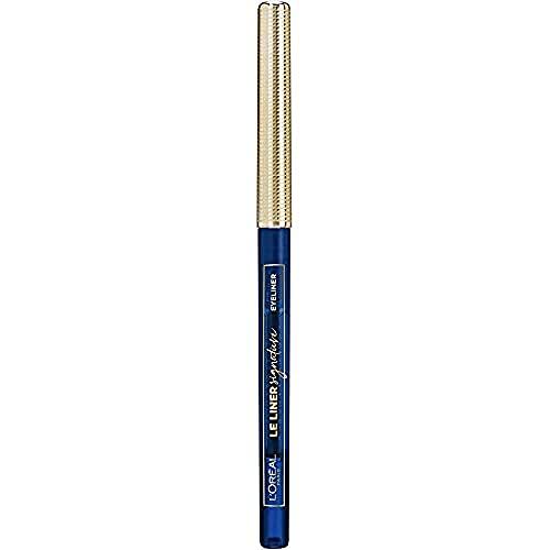 L Oréal Paris Makeup Le Liner Signature Matita Automatica Occhi, Colore Intenso, Tratto Preciso, 02 Blue Jersey, Confezione da 1