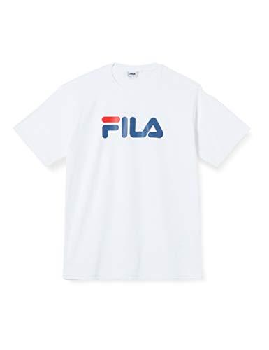 FILA Unisex Classic Pure ss Tee T-Shirt, Bright White, L