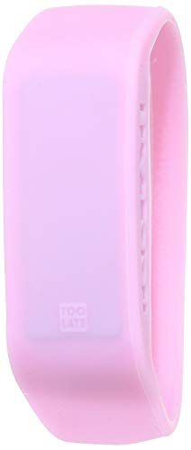 TOO LATE LED ORIGINAL Orologio Unisex Digitale Led in Silicone Ultra Leggero - Data & Ora - 19 COLORAZIONI (S, Rosa Pastello)
