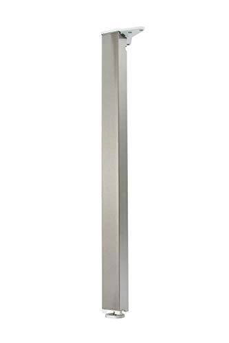 durante Tischbein eckig 50x50mm H 710mm Edelstahl Optik inkl. Befestigungsmaterial