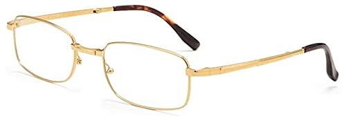 DDSGG Gafas de Lectura Gafas de Lectura, multifocal progresiva luz Azul Bloqueo Compacto Plegable for Ojos, Titanio Puro lectores Plegable de Bolsillo de Alta definición, for Hombres y Mujeres, Vasos