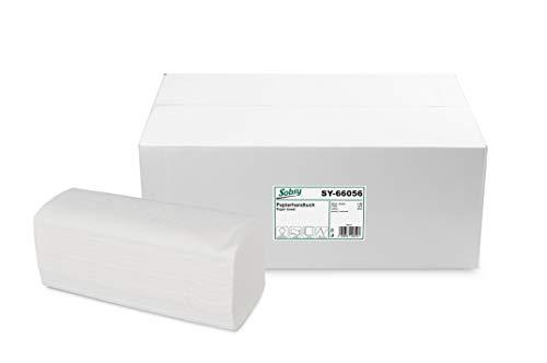 Papieren handdoek ZZ/V-vouw, 2-lg, wit