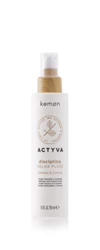 Kemon Actyva Disciplina Relax Fluid - Haar-Tonikum für welliges oder lockiges Haar, Haar-Pflege für leichteres Kämmen ohne Ausspülen - 150 ml