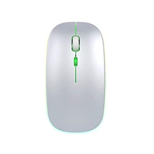 Lpinvin Ratón de computadora 2.4G óptico de Doble Modo de ratón inalámbrico portátil Ratones Silencio ratón ratón ergonómico 1600DPI Ratón USB inalámbrico (Color : White, Size : One Size)
