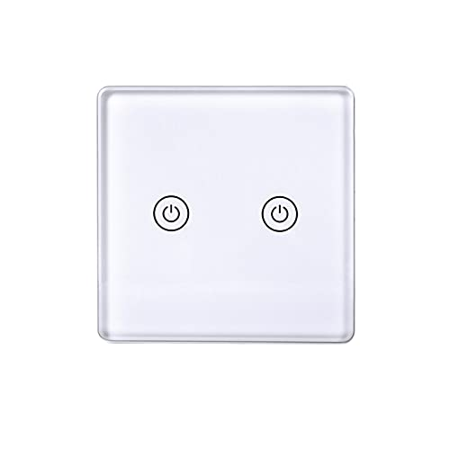 Duodo Interruptor de luz inteligente, WiFi Smart Light Switch Wall Touch Switch APP mando a distancia, control por voz, función de temporizador.