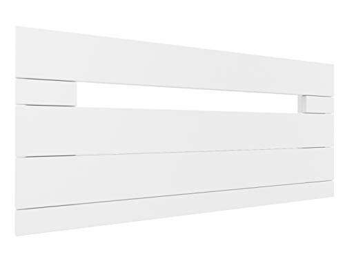 LA WEB DEL COLCHON - Cabecero de Madera Rústico Provenza para Cama de 105 (115 x 44 cms.) Blanco nórdico | Cabeceros Madera | Dormitorio Matrimonio | Cabezal Cama |Estilo nórdico