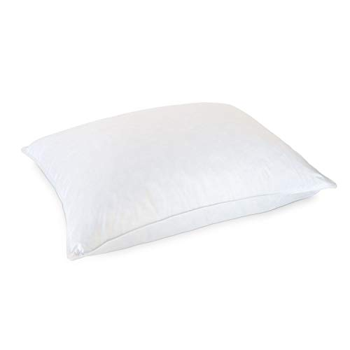 Eddie Bauer Luxury White Hypoallergenic 10/90 Goose Down and Feather Pillow - Medium Density Perfect For Back and Side Sleepers - Standard Size Bed Pillow 20' x 26'