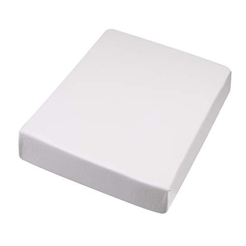 Unbekannt Hochwertiges Spannbetttuch 100x200-120x220 cm I Spann-Bettlaken I Laken I für Boxspring-Betten und Wasserbetten I Steghöhe bis 30 cm I Farbe Weiß