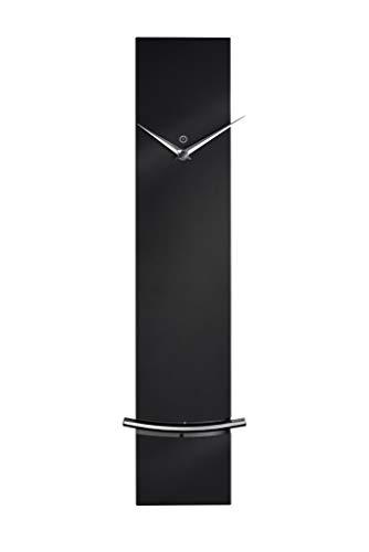 sompex Clocks Wanduhr Monaco, Moderne Pendeluhr mit Quartzuhrwerk | Metall | 60 x 12 x 5cm, Farbe:schwarz