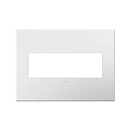 Adorne AWP3GWHW4 3-Gang Wall Plate in Gloss White