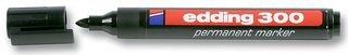 Edding 4-300001 300 Industry Permanent Marker - Rundspitze - Beschriftung von Karton, Metall, Gummi und Glas, schwarz