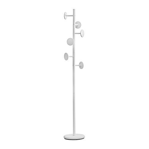 Balvi-ShiitakePerchero de pie con6Ganchos. Color:Blanco.Altura: 174cm. para Colgar Todo Tipo de Ropa: Abrigos, Chaquetas, Bufandas, Sombreros y más