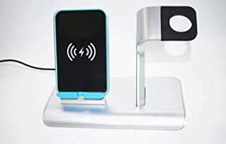 New 2-in-1 Qi Wireless Fast Charger Phone Charging Station for all Qi-Standard Devices