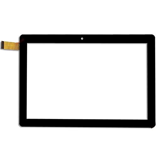Reemplazo de pantalla para tableta Q057D-FPC-002 de 10.1 pulgadas de pantalla táctil capacitiva del panel digitalizador de reemplazo Phablet Multitouch (color negro)