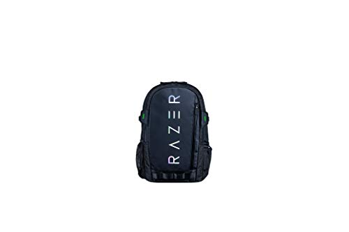 Razer Rogue v3 15.6' Gaming Laptop Backpack: Tear and Water Resistant Exterior - Mesh Side Pocket for Water Bottles - Dedicated Laptop Compartment - Made to Fit 15 inch Laptops - Chromatic Edition