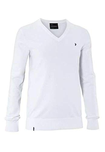 Peak Performance gebreide trui voor heren, golf, wit, maat XL