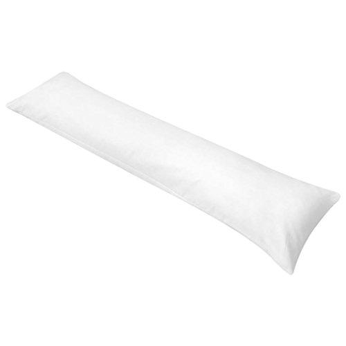 vidaXL Oreiller de dormeur latéral pour femmes enceintes 40 x 145 cm Blanc