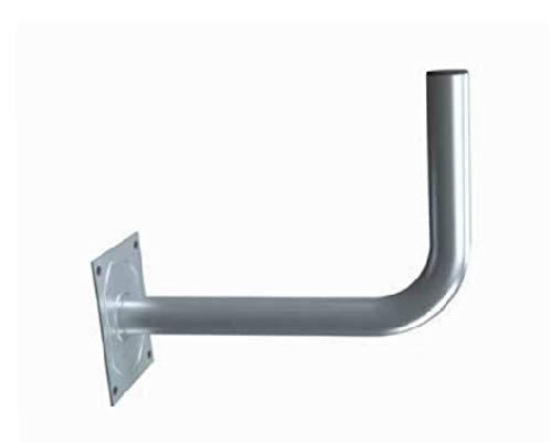 Diesl.com - Soporte parabolica en L SP35 | para Antenas de 60 y 80 cm | Diámetro: 35mm 250X350mm | Tapon Negro de Proteccion contra Corrosion
