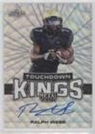 best website fc5b9 a4030 Amazon.com: Ralph Webb (Football Card) 2018 Leaf Metal Draft ...