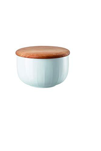 Arzberg - Joyn Weiß - Eiche - Zuckerdose, Zuckerbehälter - Porzellan - Holz - 0,28 l