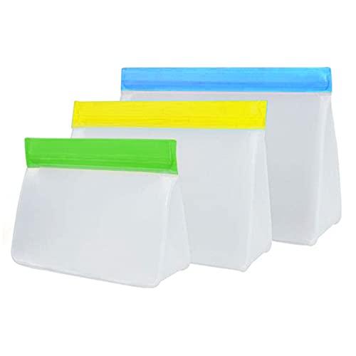 Bolsa de sellado de alimentos de PEVA reutilizable, bolsa de almacenamiento de alimentos sellada en tres dimensiones.