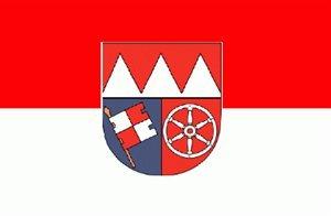 Buddel-Bini Flagge Fahne ca. 90x150 cm : Unterfranken Unter Franken