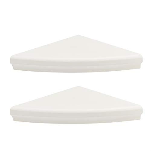Amazon Basics Rounded Corner Shelves - 17-Inch White 2-Pack