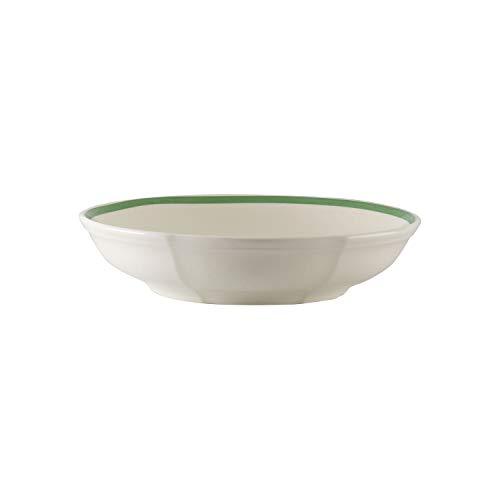 Villeroy & Boch French Garden Green Line Schale, 24 cm, Premium Porzellan, Weiß/Grün