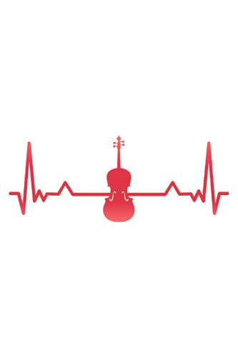 Cello Violin Viola Heartbeat Funny Gift: 6x9 Notes, Diary, Journal 110 Page