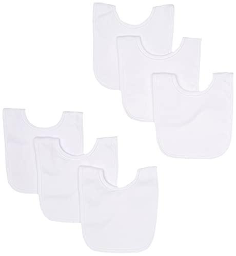 Gerber Unisex-Baby Newborn Dribbler Bib Bundle White, One Size (Pack of 6)