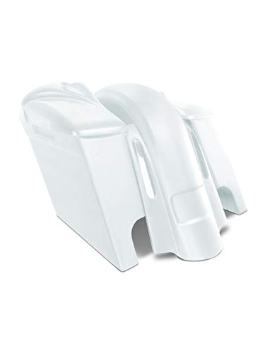 Why Choose Harley Davidson 4 extended stretched saddlebags and CVO Style Replacement fender for 09-...
