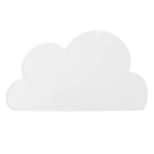 GLOGLOW Cloud Pet Placemats Silicone Mats Feeding Dish Silicone Food Water Placemat Bowl Mat Dog Puppy Cushion Pet Bowl Mat Cat Feeding Mat(White)
