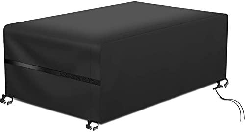 RATEL Copertura per Tavolo da Giardino, Copertura Tavolo da Giardino Impermeabile Antivento Copertura per mobili di Grandi Dimensioni 420D Oxford Stoffa, Impermeabile e Resistente UV (180X120X74cm)