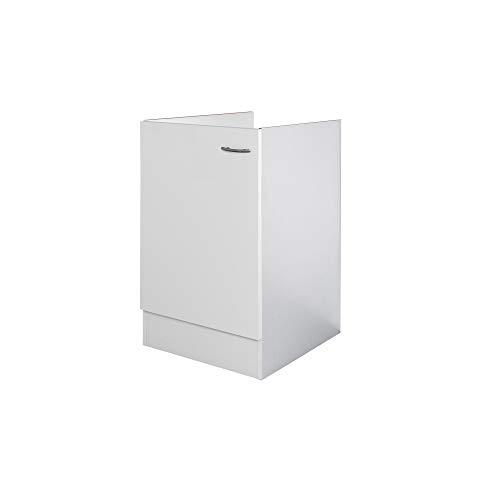 Flex-Well Spülenunterschrank UNNA - Spülenschrank ohne Arbeitplatte - Breite 50 cm - Weiß