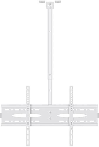 TabloKanvas Soporte de techo para TV blanco de 40 a 60 pulgadas, rotación de inclinación, soporte de techo ajustable en altura (tamaño 2 metros)