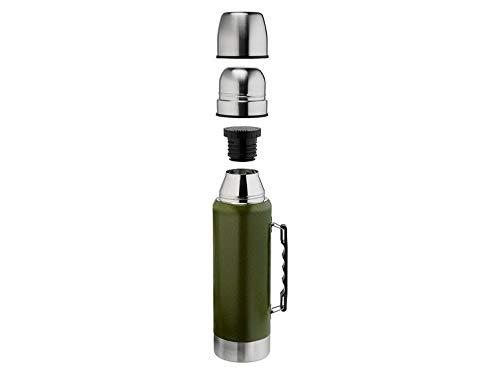Crivit Edelstahl Thermosflasche Trinkflasche Isolierflasche Sport Wasserflasche Doppelwandiger Korpus aus rostfreiem Edelstahl