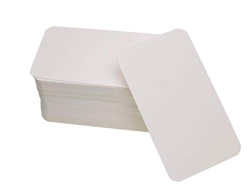 Penta Angel 100 Pcs Mini Paper Blank Gift Notes Cards DIY Craft Small Word Business Message Cards (White)