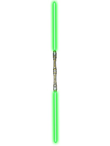 52' Green Double Bladed Dual 2-Sided Light Sword Laser Saber Staff Light Up Toy