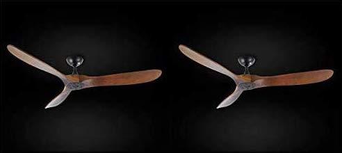 """Set of 2 - Indoor/Outdoor Ceiling Fan - Vintage Rustic Propeller Wood Indoor/Outdoor Ceiling Fan - 60"""" Diameter"""