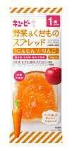 QP キユーピー 離乳食 やさいとなかよし 野菜&果物スプレッド にんじんとりんご 36g 60個 (20個×3箱) ZHT