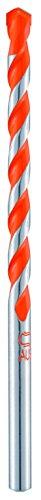 alpen 35301000100 Hartmetall-Hohlziegelbohrer Profi Ziegel, zylindrischer Schaft, ∅ 10 mm, L1 200 mm, L2 135 mm