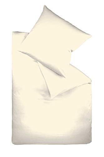 Fleuresse 9200 colours Interlock Jersey Bettwäsche aus 100{57040f7aa7d3995e7acf784ce98ca373971dbfca5ced6bc234e0d9c8295b3cfa} Baumwolle, Oekotex Standard 100, 135 x 200 cm, creme
