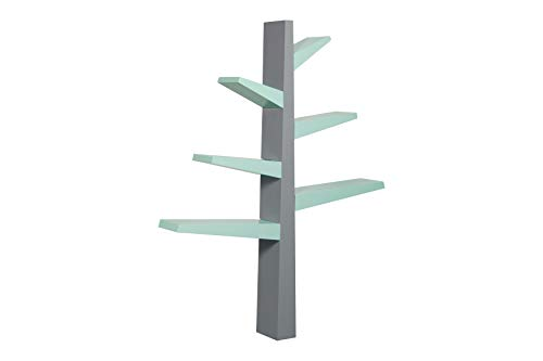 Babyletto Spruce Tree Bookcase, Grey/Cool Mint